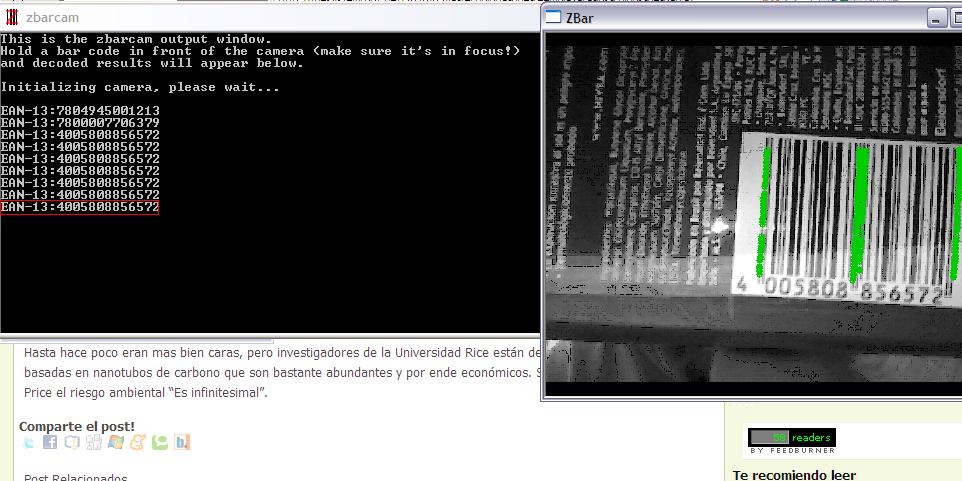 Lee codigos de barras con tu webcam
