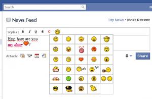 Emoticones en facebook